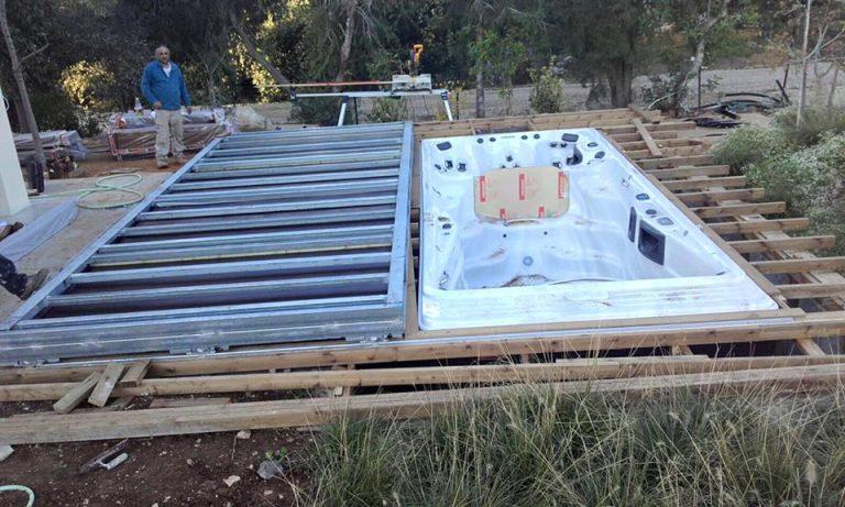 פרויקט בבנייה בריכת זרמים מייק פלפס